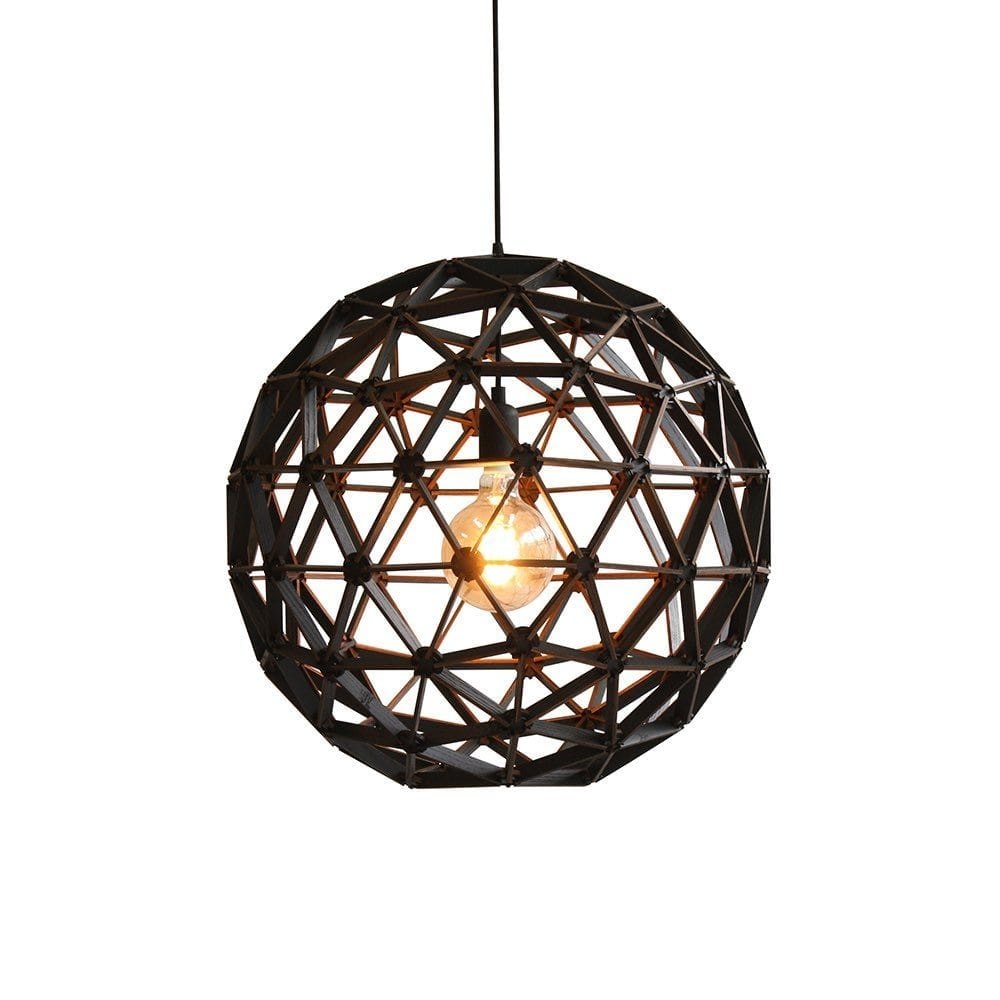 Koepellamp ø75cm van Binthout is een handgemaakte hanglamp van duurzaam hout bij Studio Perspective.