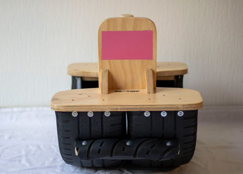 houten hobbelband van re-tire bij Studio Perspective