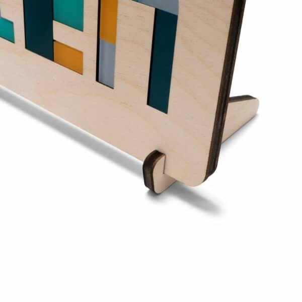 houten puzzelstandaard voor je naampuzzel bij Studio Perspective.nl