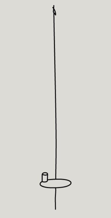 tekening wandkandelaar kwilleminhuis