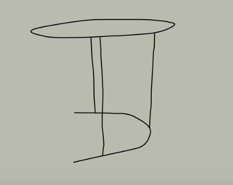 tekening van de schuiftafel