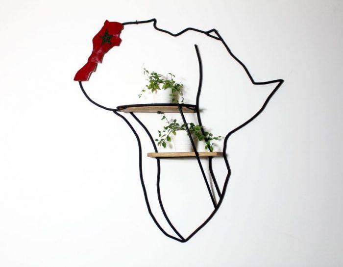 Wandrek Afrika Marokko eikenhout wanddecoratie