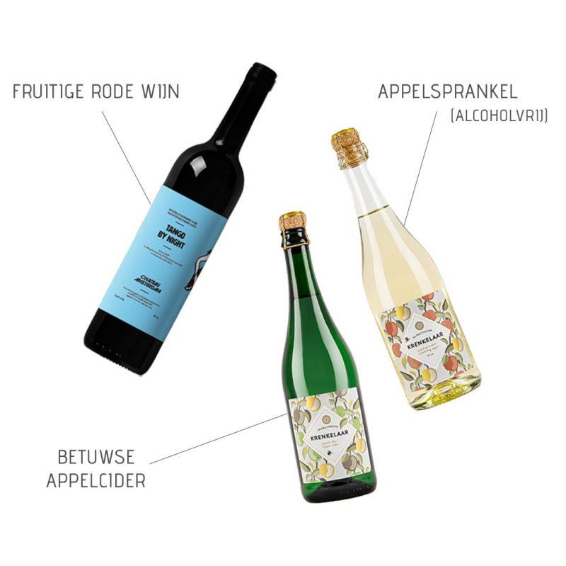 Flessen voor in de wijnkist gepersonaliseerd