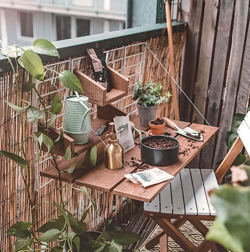 Uitklaptafel voor het balkon hektafel
