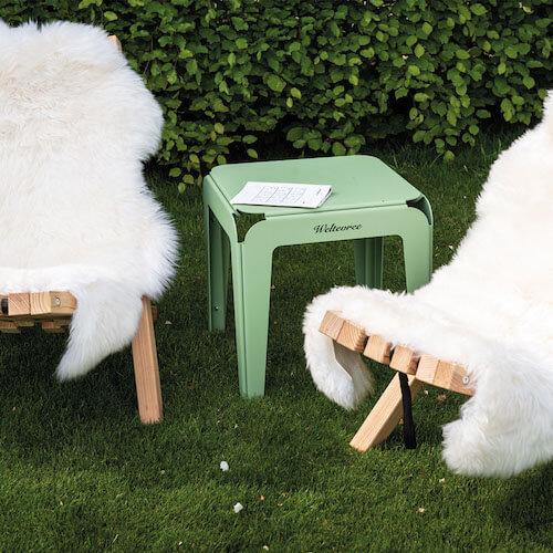 Weltevree tuinkruk bended stool groen met fieldchairs