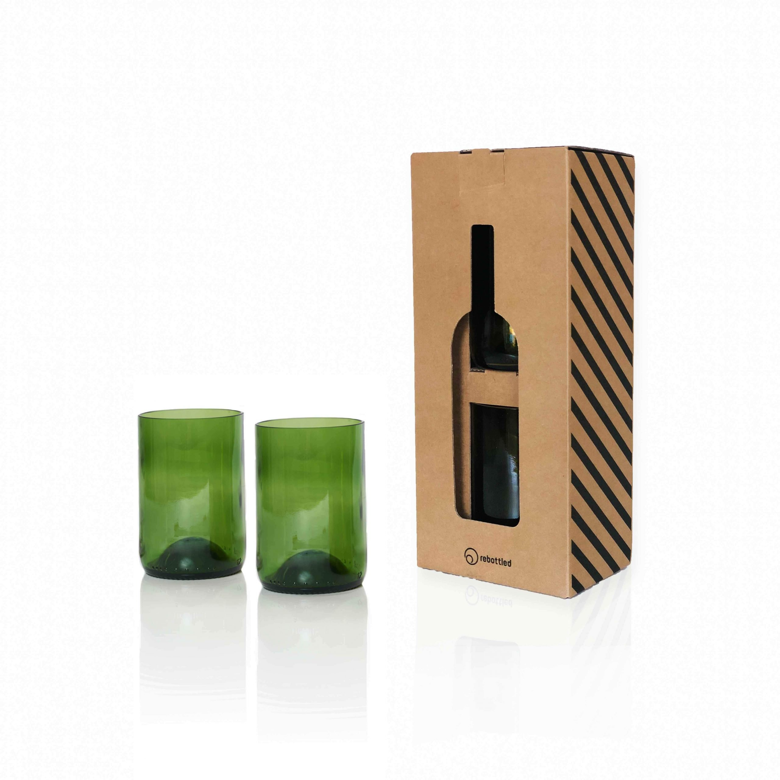 Rebottled Drinkglas 2-Pack Groen