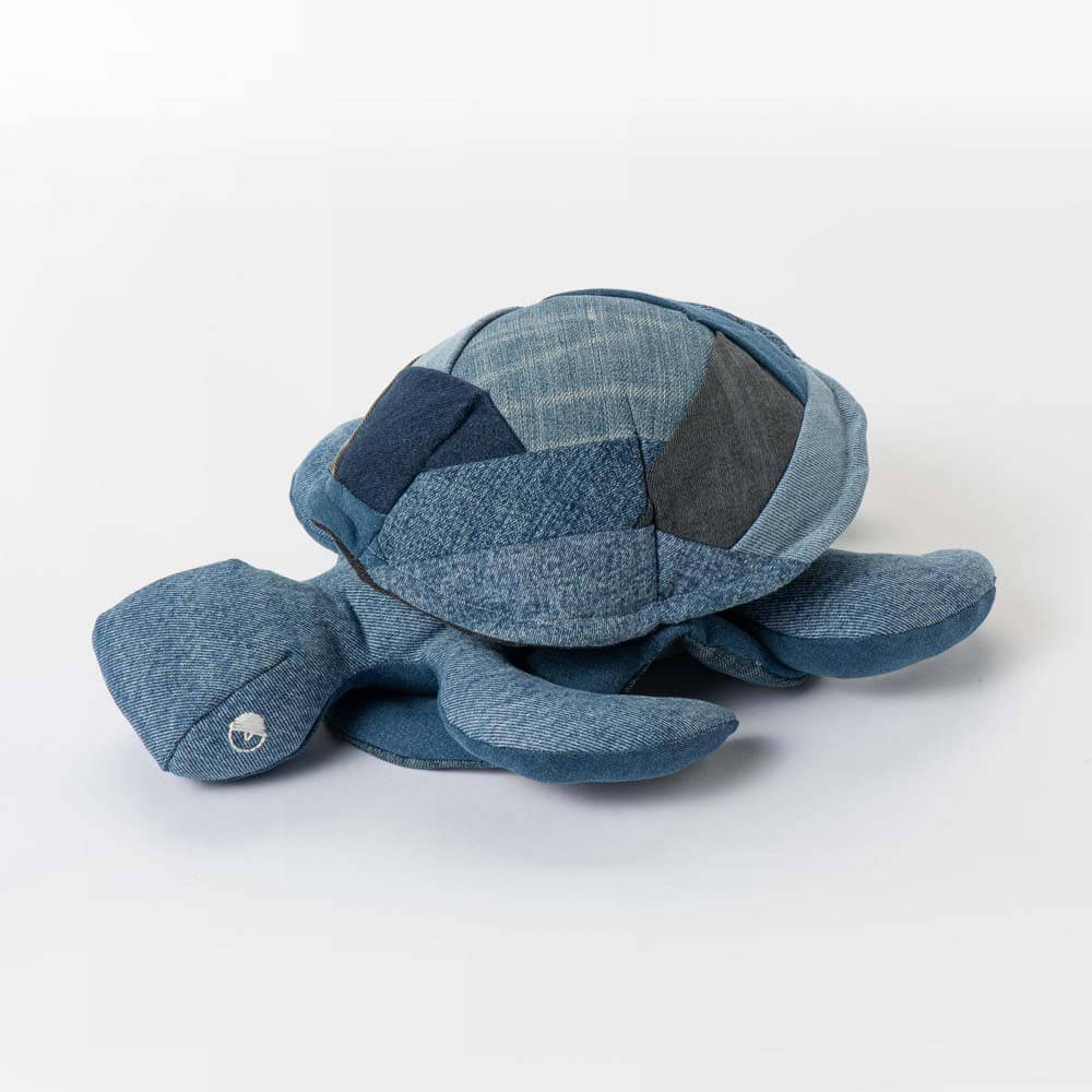 Schildpad Denim Knuffel