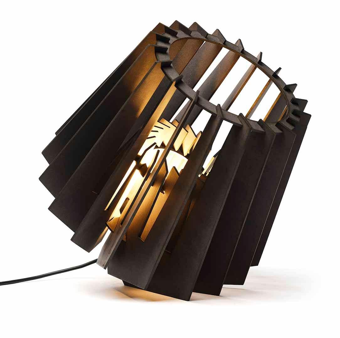 Vloerlamp Spot-nik zwart hout duurzaam