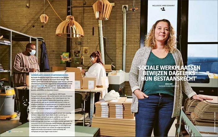 UWV magazine artikel over Studio Perspective