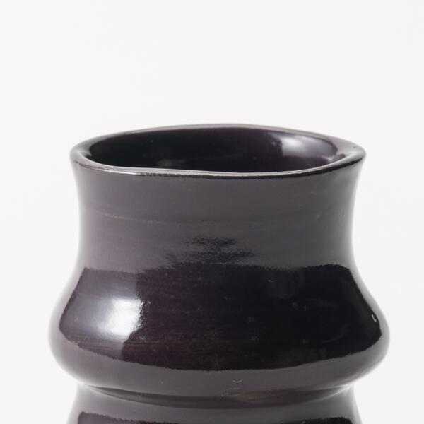 Cappuccinobeker aubergine keramiek