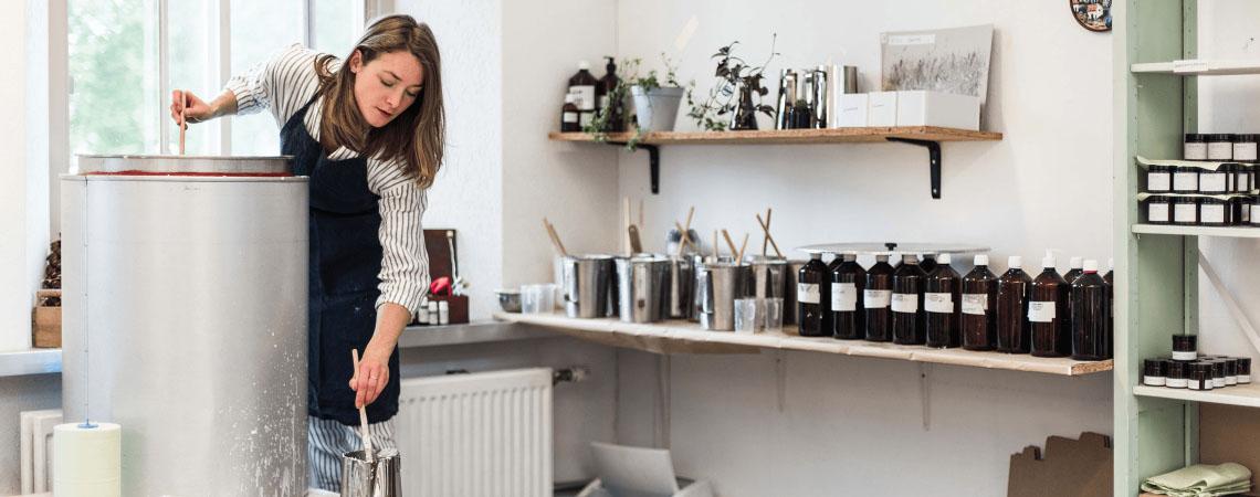 Werkplaats Brandt kaarsen Giselle Habraken
