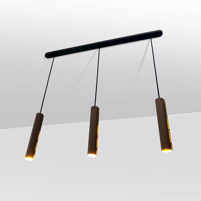 Drie hanglampen pendel duurzaam design