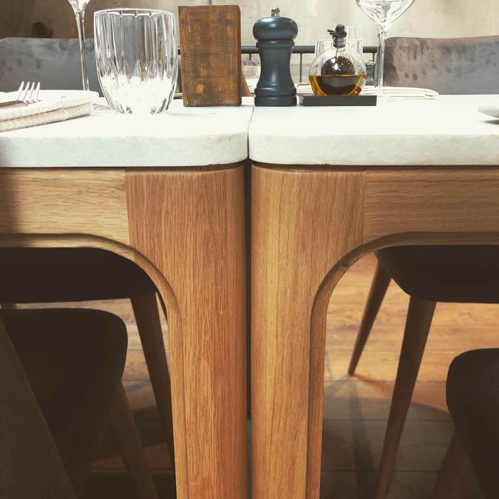 bine tafel twee stuks frame