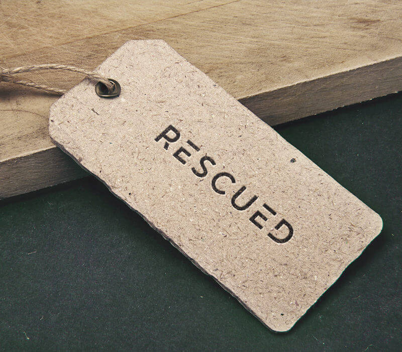 Rescued label
