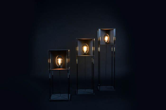 Kubus vloerlamp recycle design