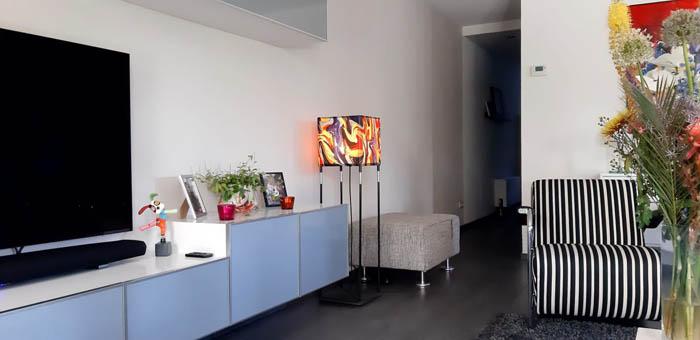 Vloerlamp estendia met wikkel interieur