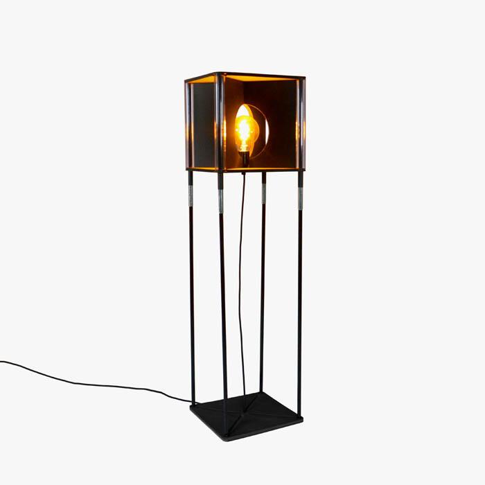 Vloerlamp Estendia hoog vierkant circulair