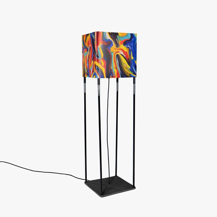 Vloerlamp Cube + Wikkel